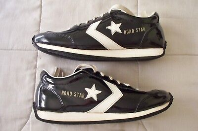 fe435615fad7 Vintage 1980 s Converse Road Star Low Running Shoes Black   White Men Size 7