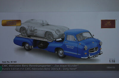 CMC M-163 Mercedes-Benz Renntransporter + Mercedes 300 SLR Dirty Hero Bundle Ed.