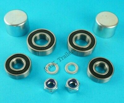 1 Axle Wheel Bearing Kit Dust Caps Nut Washer Erde Motorbike Trailer PM310  #125