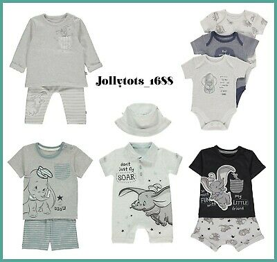 Disney Baby Boys Dumbo Clothes Character Shorts & Jogger Sets Sleepsuits Outfits