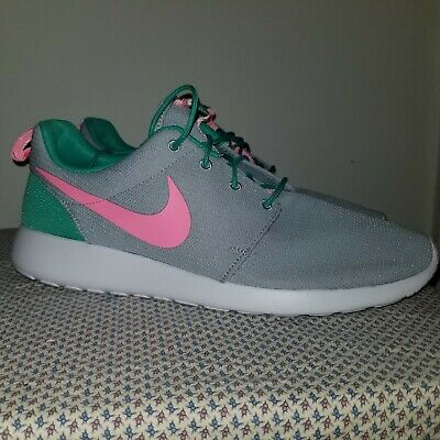 2784e79d0d449 NIKE Roshe One Run South Beach Sea Green Watermelon Pink 511881-036 Size 13