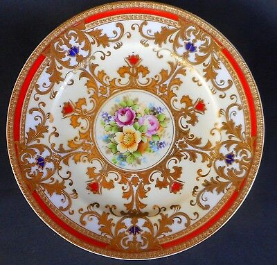 Attractive Japanese Plate By Meito China ~ A Stunning Display Item !