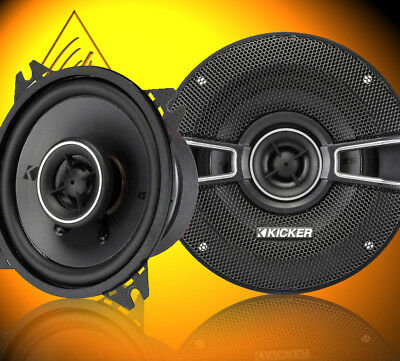 "KICKER KSC44 2 Way 4"" inch 10cm 150 Watts a Pair Coaxial Car Van Door Speakers"