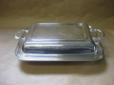 Vintage / Antique Silver Plated Serving / Entree Dish & Cover ~ J.B. Chatterley