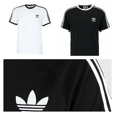 Adidas Originals Crew Neck T-shirt New Men California Black Trefoil Short Retro