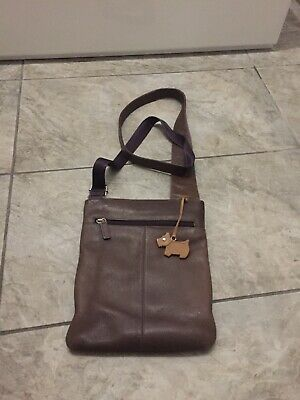 f4f645adc35d Radley Cross Body Messenger Bag Brown With Light Brown Dog Tag.