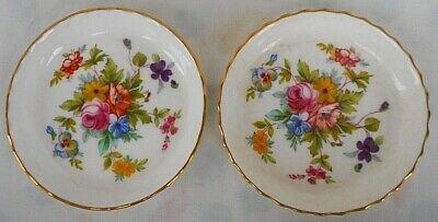 Pair of Minton Pin / Trinket Dishes In The Marlow Pattern Excellent Condition