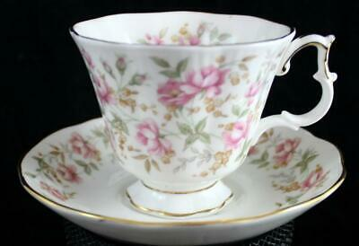 Royal Albert ROSE CHINTZ SERIES Cup & Saucer Pink Brocade GREAT CONDITION