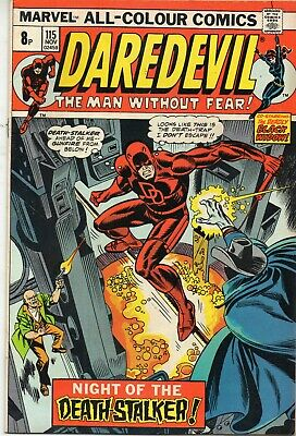 Daredevil Vol 1 # 115 / Fine / Death-Stalker / Price Variant.