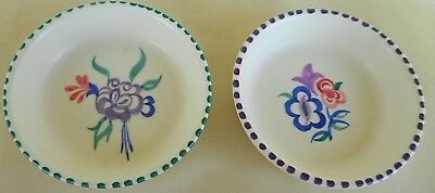 Pair Of Poole Pottery Pin Dishes - Hand Painted And Signed