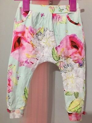 Baby Girls Designer Ted Baker Floral Peony Print Hareem Trousers 12-18m🎀