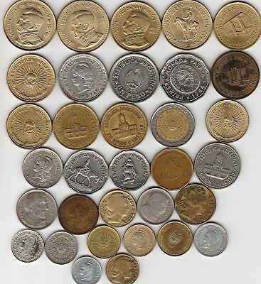 33 different world coins from ARGENTINA some scarce