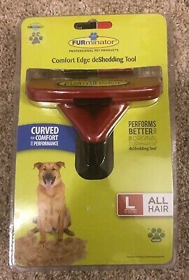 Furminator Comfort Edge Contoured deShedding Tool Large Dog All Hair (51-90 lbs)