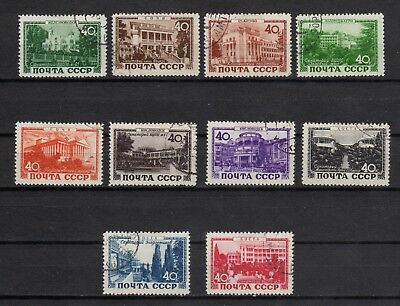 Russia 1949 Sc.1266-75 Zag 1332-41  Resorts of the USSR Used