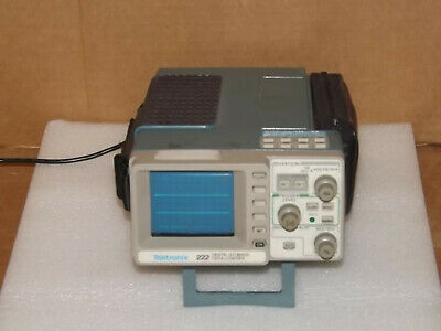 TEKTRONIX 222 PORTABLE Digital Storage Oscilloscope With Cover Probes