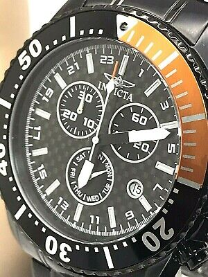 Invicta 11290 Pro Diver Chronograph Black Dial Stainless Steel Men's Watch