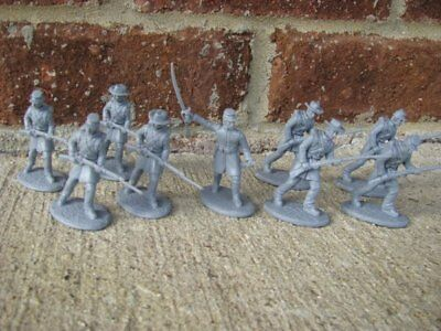 Civil War Confederate Infantry Toy Soldiers Expeditionary Force Gray