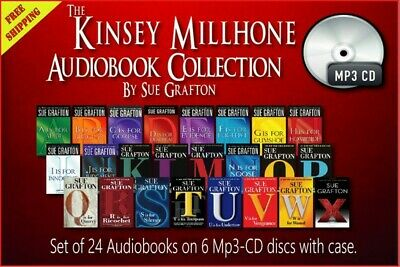 Collection of 24 audiobooks: Kinsey Millhone by Sue Grafton CD-Mp3 Unabridged