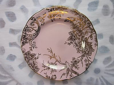 222 Fifth Pink Gold Metallic Adelaide Easter Spring Toile Salad Plates  S/4 New