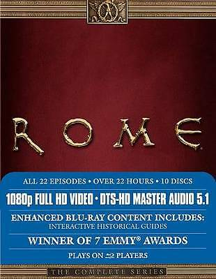 Rome: The Complete Series (Blu-ray Disc, 2009, 10-Disc Set) NEW, Sealed HBO