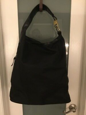 0c46223a35a AUTHENTIC GUCCI BAG Techno Black Canvas Oversized Tote Carry On ...