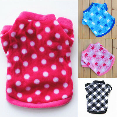 Small Pet Dog Clothes Coat Puppy Fleece Vest Warm Shirt Sweater Winter Apparel
