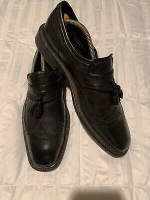 70708b2ca17 Cole Haan Men s 9.5M Black Leather Tassel Dress Loafers Made In Italy Nice  Shoes