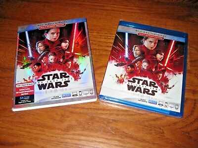 Star Wars Episode VIII The Last Jedi (Blu-Ray + Digital) 2018] NEW + I Ship Fast