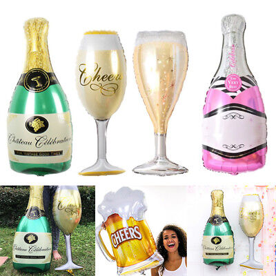 Champagne Beer Cocktail Bottle Shape Foil Balloons Wedding Party Decor Supplies