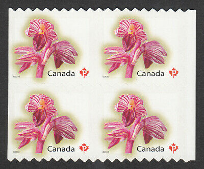 a. Vertically UNCUT Block of 4 RIGHT Margin fr sheet of 100 Canada 2010 #2357iv