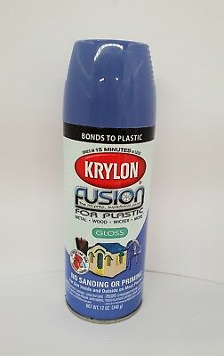 Krylon Fusion Plastic Paint 340gm - Hyacinth Blue Gloss - AUS Seller