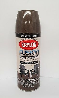Krylon Fusion Plastic Paint 340gm - Chocco Brown Hammered - AUS Seller