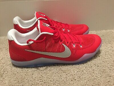 classic fit 3f19c a0f37 Nike Kobe XI 11 University Red Silver Men s 17, 17.5 Basketball 856485-663  NEW