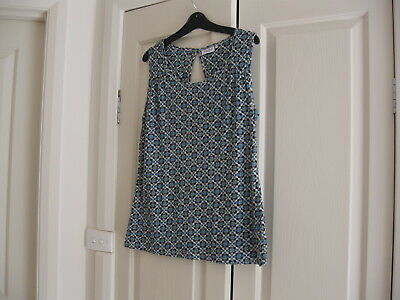Ladies Top Size small  Design Jeans West Blue,Black Yellow  No Sleeves Cotton