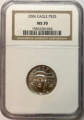 2006 $25 Quarter-Ounce Platinum American Eagle NGC MS-70