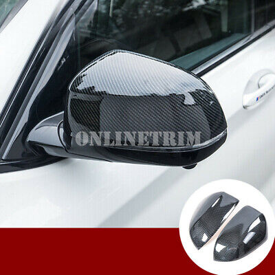 Carbon Fiber Style Rearview Mirror Trim Cover For BMW X3 X4 G01 G02 2018-2019