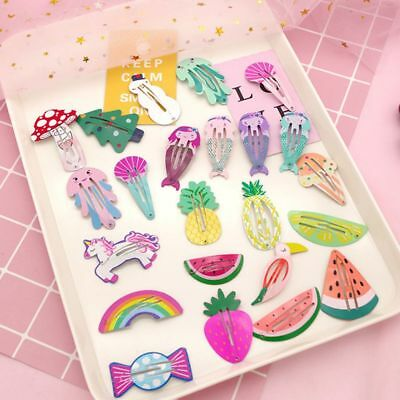 Kids Hair Accessories Fruit Pineapple Hairpins Children Paint BB Clip Girls Cute