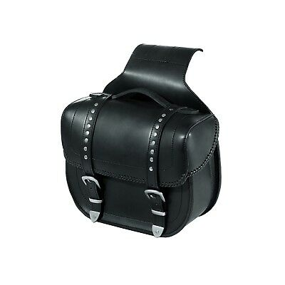 Borsa Laterale Singola Saddle bag Bisacce Rigide Moto Chopper Custom Nero