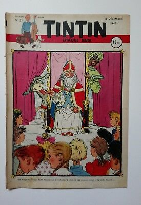 JOURNAL TINTIN n° 59  COUVERTURE DE HUSY 8/12/1949