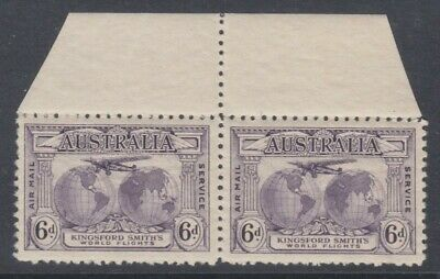 50% OFF! 1931 Kingsford Smith's Flights 6d Violet MUH *PAIR* SG 123 A19