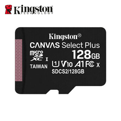 Kingston 128GB up to 80MB/s MicroSD SDXC UHS-I Class10 Memory Card with Adapter