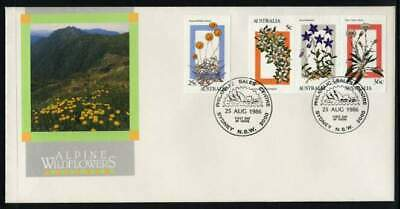 1986 Alpine Wildflowers Booklet Stamps Set FDC SG 1028-1031 7C3