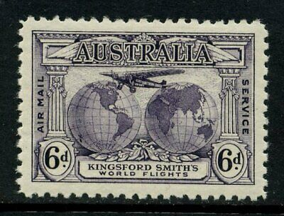 50% OFF! 1931 Kingsford Smith's Flights 6d Violet MH SG 123 E84