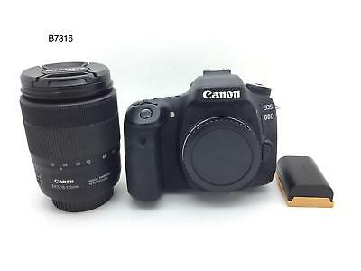 Canon EOS 80D Digital SLR Camera with EF-S 18-135mm Lens