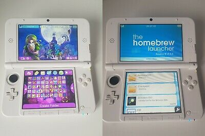 NINTENDO 3DS XL CFW 11 9 Homebrew B9S LUMA3DS with 3DS games installed  (32GB)