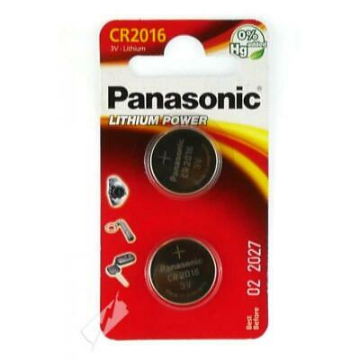 2Pcs Panasonic CR2016 DL2016 3V Lithium-Ion Coin Cell Battery Pack Remote Laptop