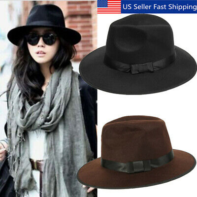 ca8848130bc793 Men Women Wool Felt Round Fedora Cap Crushable Porkpie Vintage Short Brim  Hat