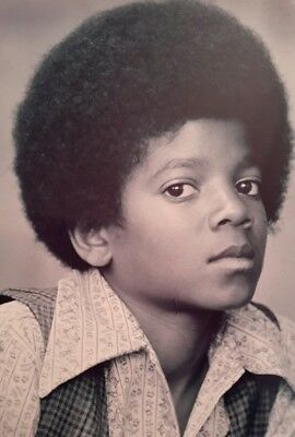 """MICHAEL JACKSON FACE YOUNG ICONIC 7x5"""" PICTURE PRINT WALL ART"""
