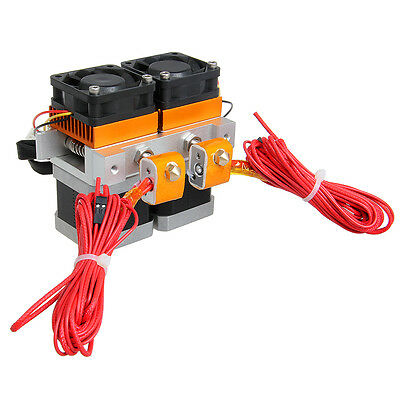 Latest Dual Head MK8 dual Extruder 0.35mm Nozzle Makerbot Geeetech 3D Printer