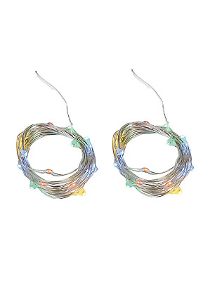 Set of 2 Twinkle Fairy Micro Lights Strands with 20 LEDs,Timer Battery...